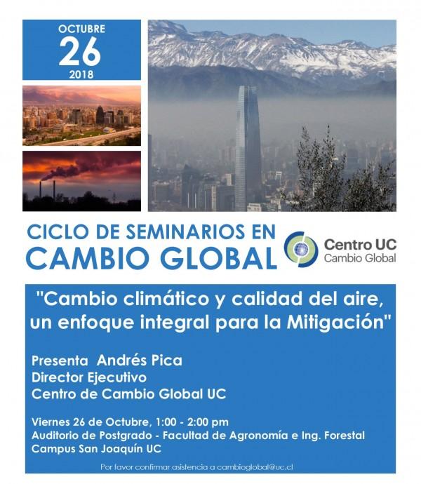 """""""Cambio Climático y Calidad del Aire, un enfoque integral para la mitigación"""""""