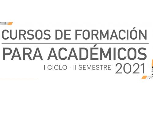 Cursos de formación para Académicos 2021